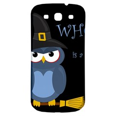 Halloween Witch   Blue Owl Samsung Galaxy S3 S Iii Classic Hardshell Back Case by Valentinaart