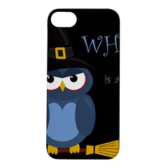 Halloween Witch   Blue Owl Apple Iphone 5s/ Se Hardshell Case by Valentinaart