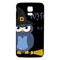 Halloween Witch   Blue Owl Samsung Galaxy S5 Back Case (white) by Valentinaart
