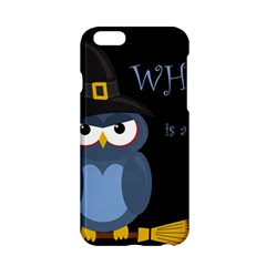 Halloween Witch   Blue Owl Apple Iphone 6/6s Hardshell Case by Valentinaart
