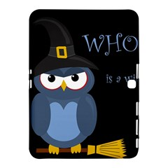 Halloween Witch   Blue Owl Samsung Galaxy Tab 4 (10 1 ) Hardshell Case  by Valentinaart