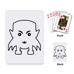 Petit Vampire Cartoon Illustration Playing Card by dflcprints