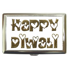Happy Diwali Greeting Cute Hearts Typography Festival Of Lights Celebration Cigarette Money Cases by yoursparklingshop
