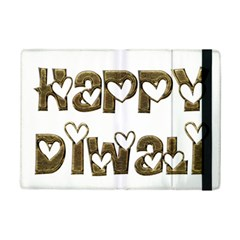 Happy Diwali Greeting Cute Hearts Typography Festival Of Lights Celebration Ipad Mini 2 Flip Cases by yoursparklingshop