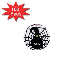 Halloween Cute Spider 1  Mini Buttons (100 Pack)  by Valentinaart