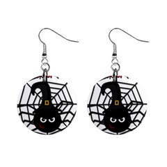 Halloween Cute Spider Mini Button Earrings by Valentinaart