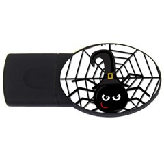 Halloween Cute Spider Usb Flash Drive Oval (4 Gb)  by Valentinaart