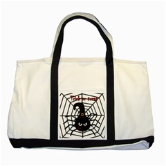 Halloween Cute Spider Two Tone Tote Bag by Valentinaart