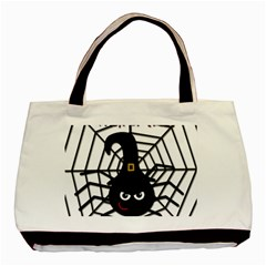 Halloween Cute Spider Basic Tote Bag (two Sides) by Valentinaart