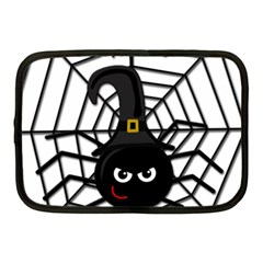 Halloween Cute Spider Netbook Case (medium)  by Valentinaart