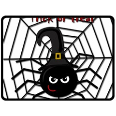 Halloween Cute Spider Fleece Blanket (large)