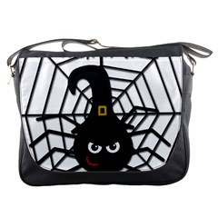 Halloween Cute Spider Messenger Bags by Valentinaart