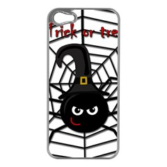 Halloween Cute Spider Apple Iphone 5 Case (silver) by Valentinaart
