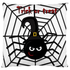 Halloween Cute Spider Large Flano Cushion Case (two Sides)