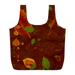 Autumn 01 Full Print Recycle Bags (l)  by MoreColorsinLife