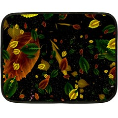 Autumn 03 Double Sided Fleece Blanket (mini)  by MoreColorsinLife