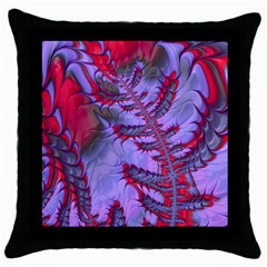 Freaky Friday Red  Lilac Throw Pillow Case (black) by Fractalworld