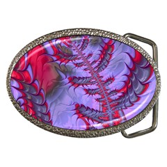 Freaky Friday Red  Lilac Belt Buckles by Fractalworld