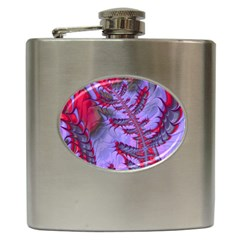 Freaky Friday Red  Lilac Hip Flask (6 Oz) by Fractalworld