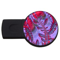 Freaky Friday Red  Lilac Usb Flash Drive Round (2 Gb)  by Fractalworld