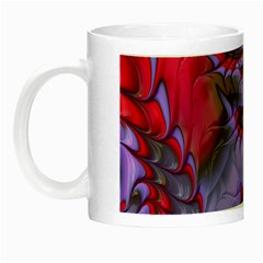 Freaky Friday Red  Lilac Night Luminous Mugs by Fractalworld