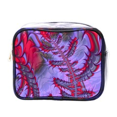 Freaky Friday Red  Lilac Mini Toiletries Bags by Fractalworld
