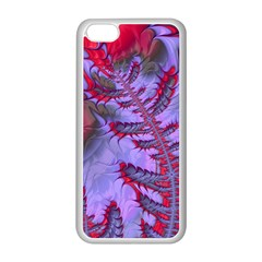 Freaky Friday Red  Lilac Apple Iphone 5c Seamless Case (white) by Fractalworld