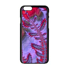 Freaky Friday Red  Lilac Apple Iphone 6/6s Black Enamel Case by Fractalworld