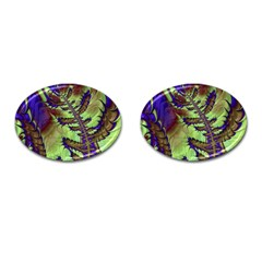 Freaky Friday, Blue Green Cufflinks (oval) by Fractalworld