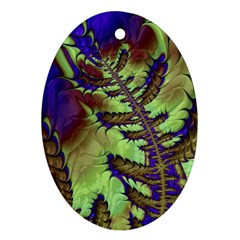 Freaky Friday, Blue Green Oval Ornament (two Sides) by Fractalworld
