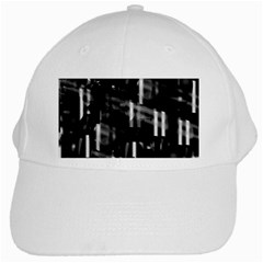 Black And White Neon City White Cap by Valentinaart