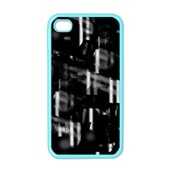 Black And White Neon City Apple Iphone 4 Case (color) by Valentinaart