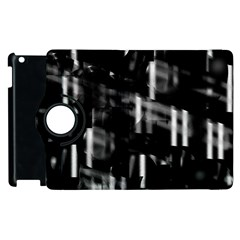 Black And White Neon City Apple Ipad 3/4 Flip 360 Case by Valentinaart