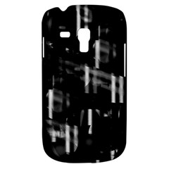 Black And White Neon City Samsung Galaxy S3 Mini I8190 Hardshell Case by Valentinaart