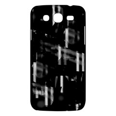 Black And White Neon City Samsung Galaxy Mega 5 8 I9152 Hardshell Case  by Valentinaart