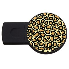 Pink Leopard Usb Flash Drive Round (2 Gb)  by AnjaniArt