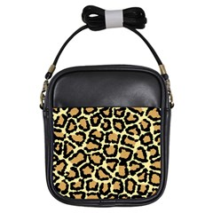 Pink Leopard Girls Sling Bags by AnjaniArt