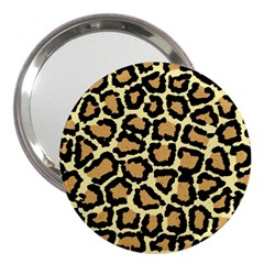 Pink Leopard 3  Handbag Mirrors by AnjaniArt