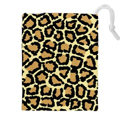 Pink Leopard Drawstring Pouches (xxl) by AnjaniArt