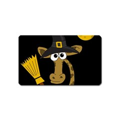 Halloween Giraffe Witch Magnet (name Card) by Valentinaart