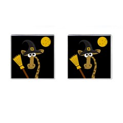 Halloween Giraffe Witch Cufflinks (square) by Valentinaart