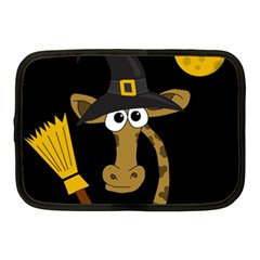 Halloween Giraffe Witch Netbook Case (medium)  by Valentinaart