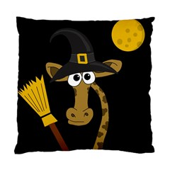Halloween Giraffe Witch Standard Cushion Case (two Sides) by Valentinaart