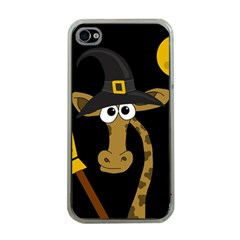 Halloween Giraffe Witch Apple Iphone 4 Case (clear) by Valentinaart
