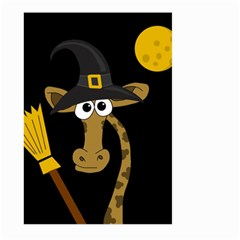 Halloween Giraffe Witch Large Garden Flag (two Sides) by Valentinaart