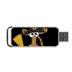 Halloween Giraffe Witch Portable Usb Flash (two Sides) by Valentinaart