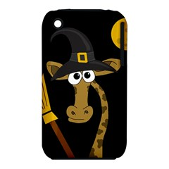 Halloween Giraffe Witch Apple Iphone 3g/3gs Hardshell Case (pc+silicone) by Valentinaart