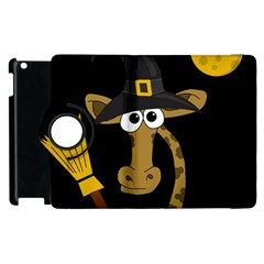 Halloween Giraffe Witch Apple Ipad 2 Flip 360 Case by Valentinaart