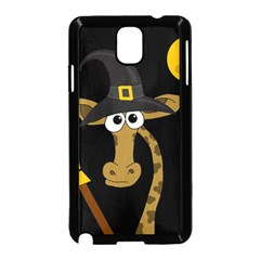 Halloween Giraffe Witch Samsung Galaxy Note 3 Neo Hardshell Case (black) by Valentinaart