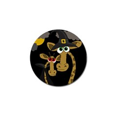 Giraffe Halloween Party Golf Ball Marker by Valentinaart